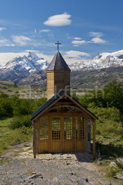 Kilise park göl buzul Arjantin dünya Stok fotoğraf © faabi