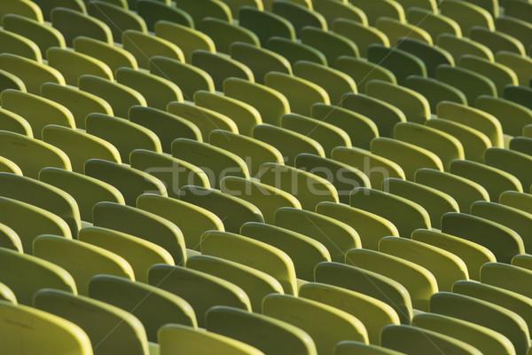 スタジアム 緑 椅子 空っぽ 誰も ストックフォト © faabi