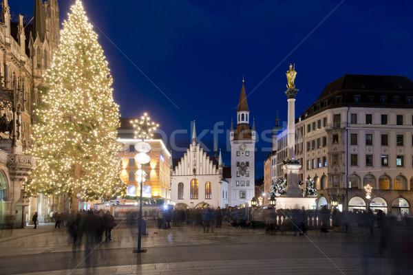 старый город зале Мюнхен ночь Германия один Сток-фото © faabi