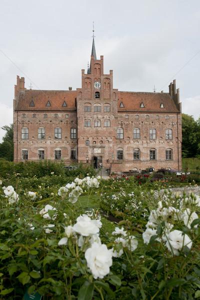 Stock fotó: Rés · Dánia · kastély · sziget · víz · tégla