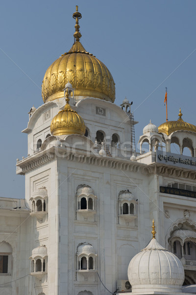 Szikh templom Delhi fontos épület építészet Stock fotó © faabi