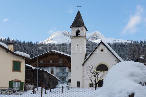 Church in Soraga Stock photo © faabi