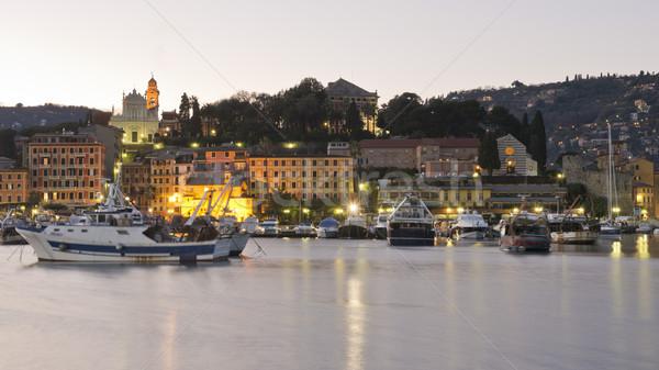 Porto ver aldeia casa noite Foto stock © faabi