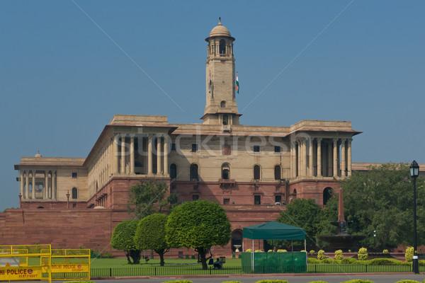 Nova délhi norte edifício assento governo Índia Foto stock © faabi