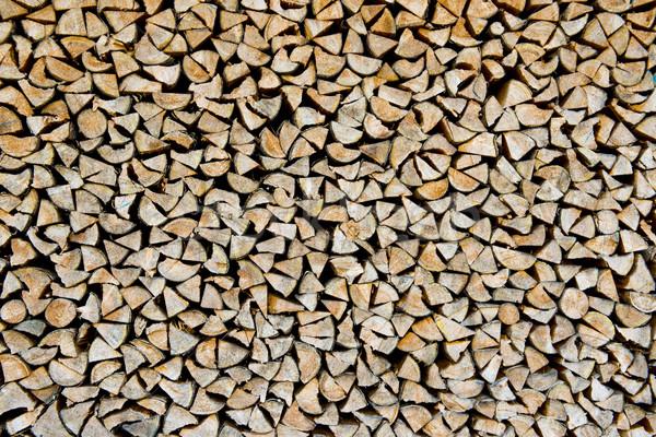 スタック 薪 木材 準備 自然 ストックフォト © faabi