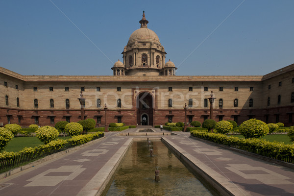 New delhi nord bâtiment siège gouvernement Inde Photo stock © faabi