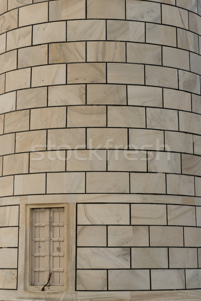 Particular of a Minaret of Taj Mahal Stock photo © faabi