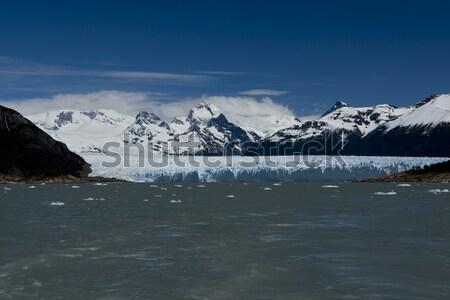 Ghiacciaio view uno parco lago Foto d'archivio © faabi