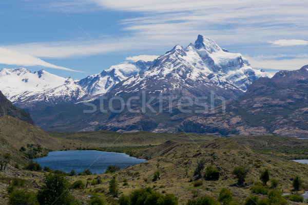 Lakes and Andes from Estancia Cristina Stock photo © faabi