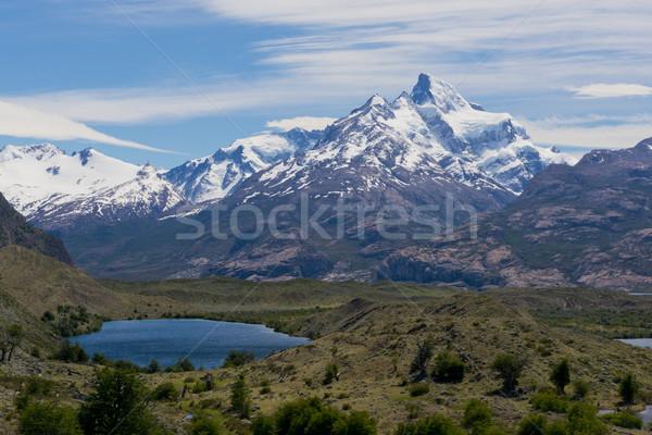パノラマ 表示 山 方法 氷河 ストックフォト © faabi