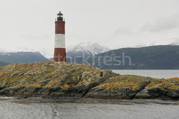 Lighthouse Les Eclaireurs on the Beagle Channel Stock photo © faabi