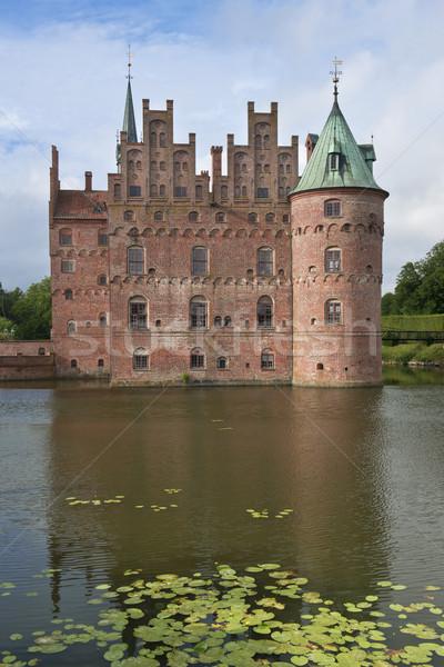 Rés Dánia kastély sziget víz tó Stock fotó © faabi