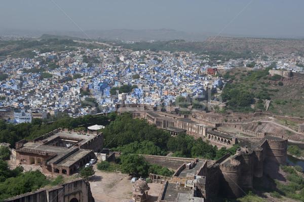 мнение синий город форт красочный декораций Сток-фото © faabi