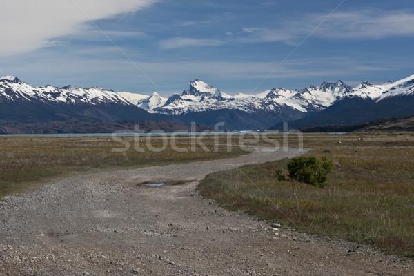 Dirt road of Estancia Cristina in Los Glaciares National Park Stock photo © faabi