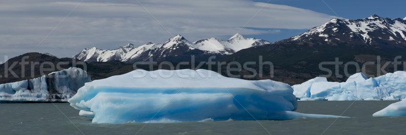 Iceberg lac spectaculaire bleu parc Photo stock © faabi