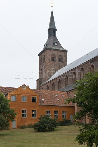 Aziz katedral bahçe tuğla Gotik Stok fotoğraf © faabi