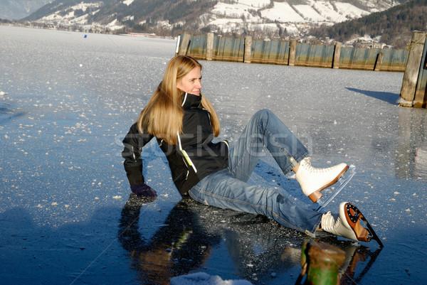 Woman ice skating  Stock photo © fahrner