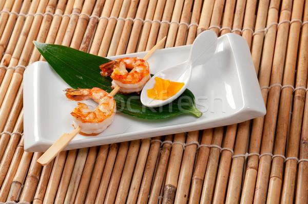 Stockfoto: Japans · garnalen · achtergrond · restaurant · presentatie