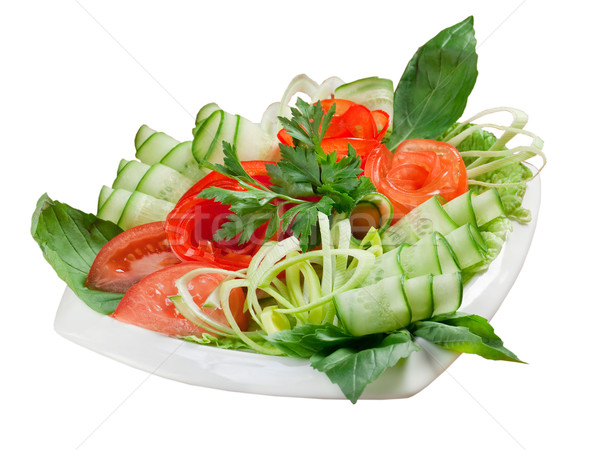 Plantaardige arrangement Italiaans voedsel ontbijt salade Stockfoto © fanfo