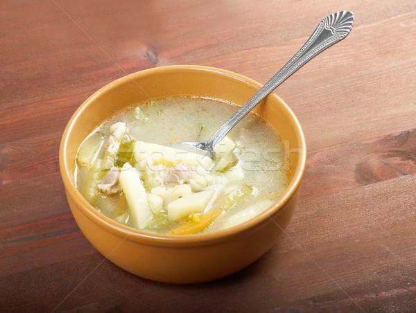 Rus gelenek çorba gıda plaka pişirme Stok fotoğraf © fanfo