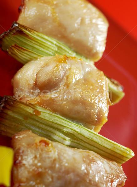 Japanese skewered chicken,Yakitori  Stock photo © fanfo