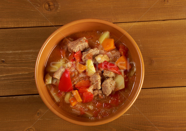 ストックフォト: ハンガリー語 · ホット · スープ · 伝統的な · 自家製 · 食品