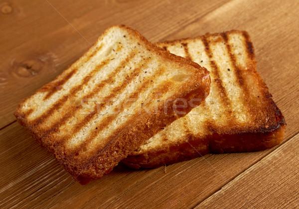 Tostado pan rebanadas hasta pan blanco Foto stock © fanfo