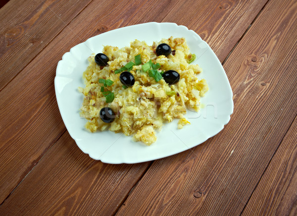 Stijl populair eieren koken aardappel knoflook Stockfoto © fanfo