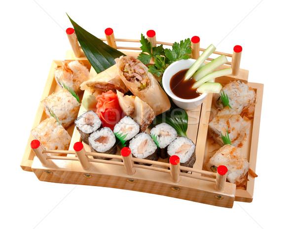 суши японская еда традиционный Японский копченый рыбы Сток-фото © fanfo