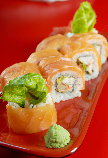 Uramaki. Philadelphia classic.  Japanese sushi Stock photo © fanfo