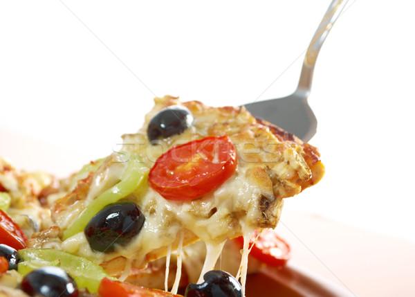Foto d'archivio: Fetta · formaggio · home · pizza · pomodoro
