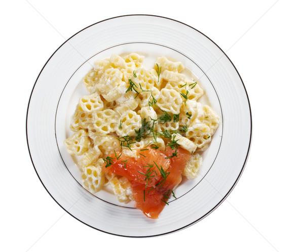 ruote pasta with cream sauce Stock photo © fanfo