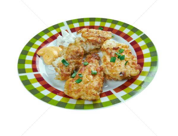 Cajun sos balık mutfak plaka ülke Stok fotoğraf © fanfo