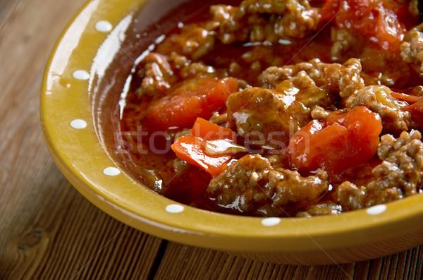 блюдо традиционный говядины овощей таблице мяса Сток-фото © fanfo