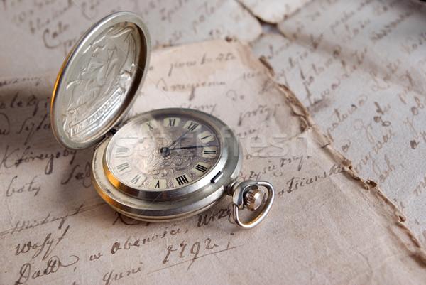 Attuale tempo vecchio lettera guardare acciaio Foto d'archivio © fanfo