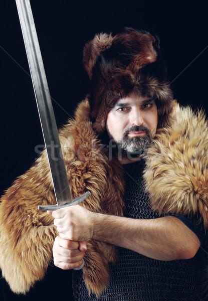 Stock photo: Cimmerian.barbarian  Warrior