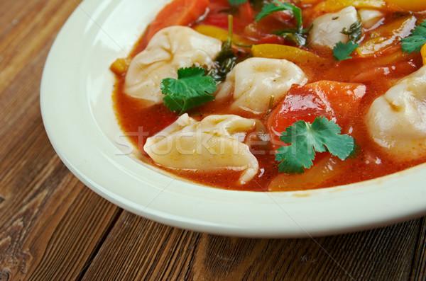 Foto stock: Tortellini · sopa · italiano · invierno · ravioles · cena