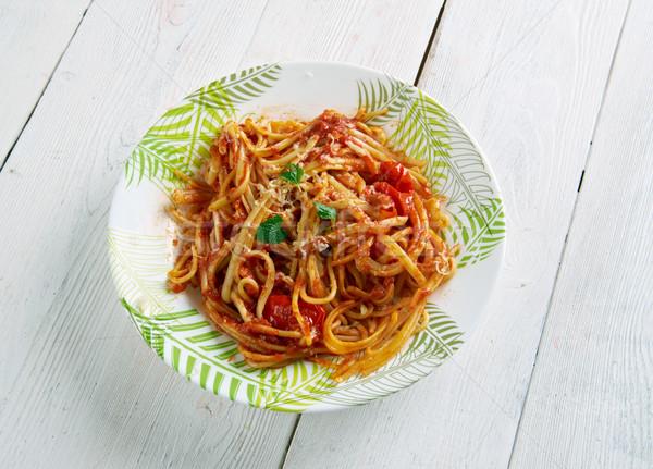 спагетти итальянский пасты соус города продовольствие Сток-фото © fanfo