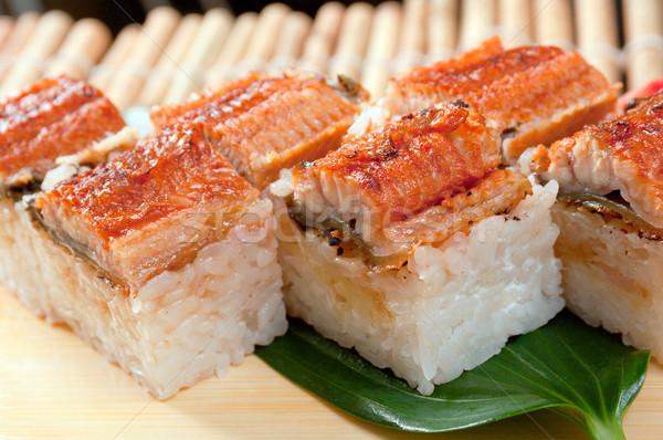 Japán szusi hagyományos füstölt angolna hal Stock fotó © fanfo
