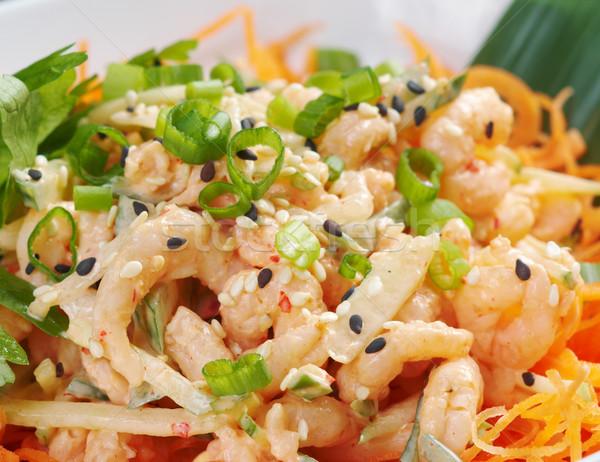 chinese cuisine .salad of shrimp Stock photo © fanfo