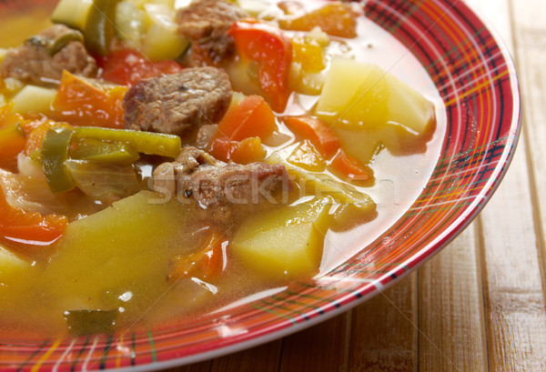 beef soup Lecho Stock photo © fanfo