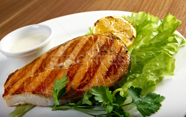delicious grilled salmon steak  Stock photo © fanfo