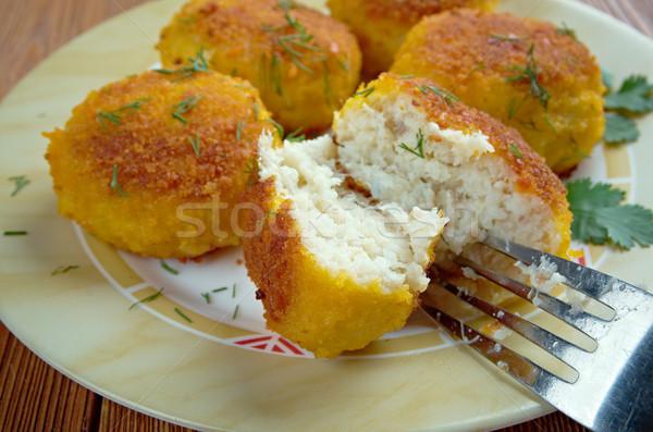 Hal étel kenyér labda hagyományos konyha Stock fotó © fanfo