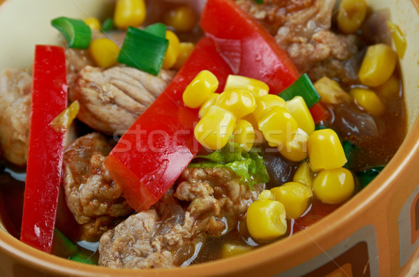 Smoky South of The Border Soup Stock photo © fanfo