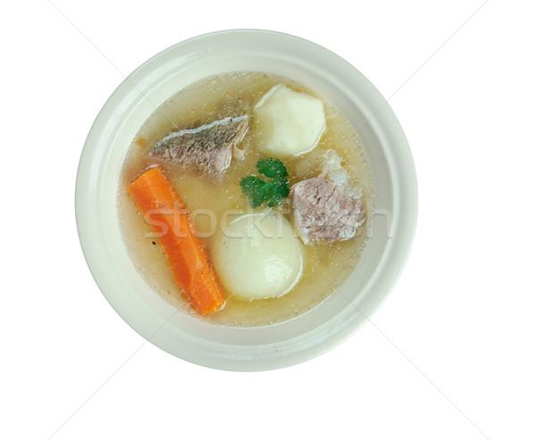 Húsleves szalonna marhahús káposzta hagyományos Stock fotó © fanfo