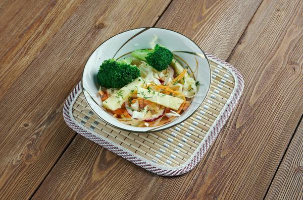 メイプル ブロッコリー リンゴ 変動 コールスロー シロップ ストックフォト © fanfo