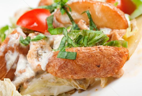 チキンサラダ イタリア料理 食品 朝食 サラダ 野菜 ストックフォト © fanfo