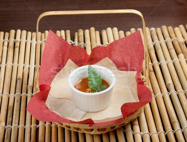 Japon soya sosu geleneksel arka plan yemek Stok fotoğraf © fanfo