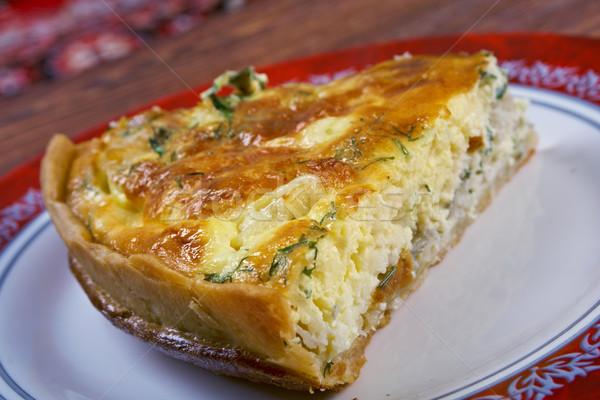 вкусный домашний продовольствие пластина ножом обед Сток-фото © fanfo
