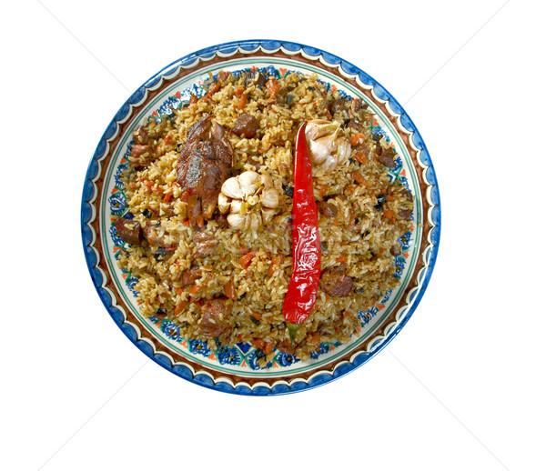 Oriental  pilaf Stock photo © fanfo